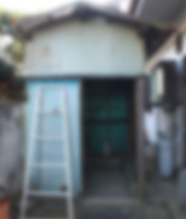 伊勢崎市東小保方 簡易物置の撤去とお片付け