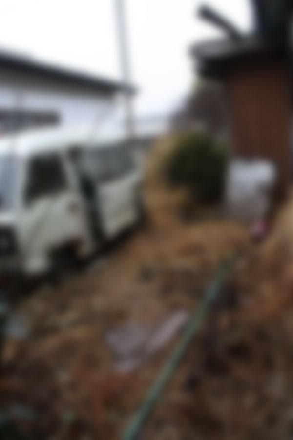 みどり市 放置された空き家のお片付け お庭の片付け 放置された機械の撤去